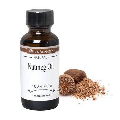 Nutmeg Oil, Natural 1 oz.