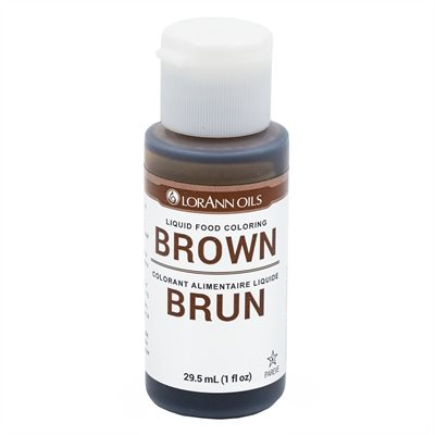 Brown Liquid Food Color 1 oz.