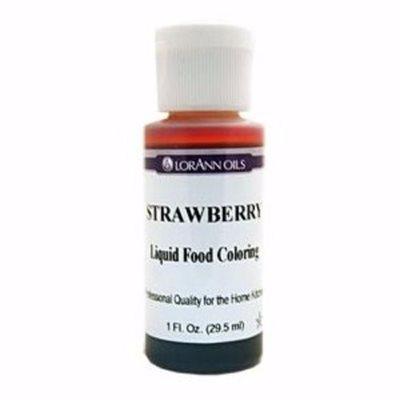 Strawberry Liquid Food Color 1  oz.