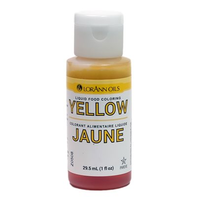 Yellow Liquid Food Color 1  oz.