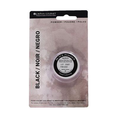Black Powder Food Color  1 / 2  oz.