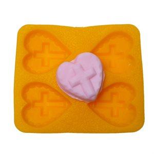 Cross on Heart Flex Mold