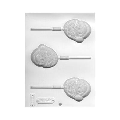 Santa Faces Lollipop Sheet Mold