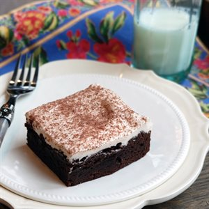 Brownies with Peanut Butter Frosting (no peanut allergens!)