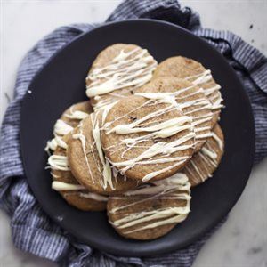 Chai Tea Shortbread Cookies