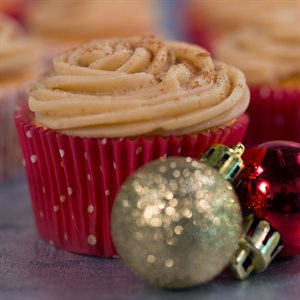 Eggnog Cupcakes with Brown-sugar Cream Cheese Frosting