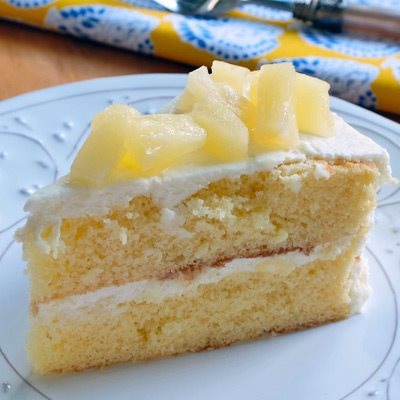 Pina Colada Cake with Rum Frosting