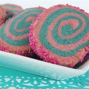 Cotton Candy Pinwheel Cookies