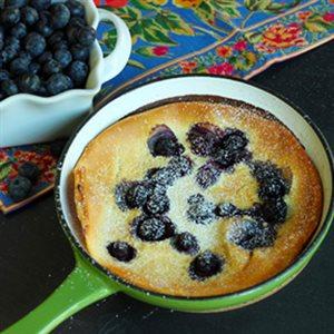 Lemon Blueberry Dutch Pancakes