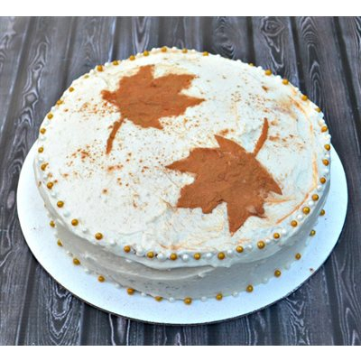 Cinnamon Spice Cake with Caramel Frosting